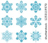 christmas snowflake shapes... | Shutterstock .eps vector #1253119570