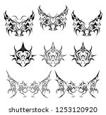 tattoo stickers bird silhouettes | Shutterstock .eps vector #1253120920