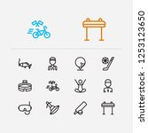 activity icons set. marathon...