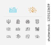 amour icons set. old couple and ... | Shutterstock .eps vector #1253123659