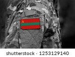 flag of transnistria on... | Shutterstock . vector #1253129140