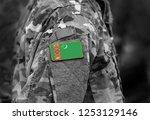 flag of turkmenistan on... | Shutterstock . vector #1253129146