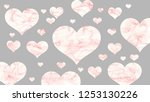 abstract red valentine heart... | Shutterstock . vector #1253130226