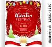 poster for winter festival. red ... | Shutterstock .eps vector #1253149150