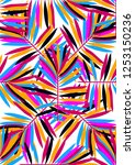exotic tropical seamless... | Shutterstock .eps vector #1253150236