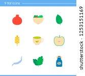 natural food icon set and...