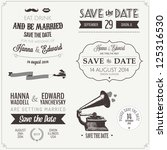 set of wedding invitation... | Shutterstock . vector #125316530