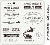 set of wedding invitation... | Shutterstock . vector #125316530