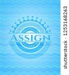 assign light blue water badge.   Shutterstock .eps vector #1253168263
