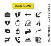 healthy icons set with muscle ... | Shutterstock .eps vector #1253170513