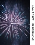 fireworks during the new year... | Shutterstock . vector #125317994