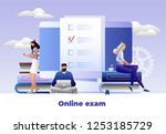 students characters studying ... | Shutterstock .eps vector #1253185729
