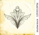 retro baroque decorations... | Shutterstock .eps vector #1253213956
