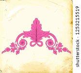 retro baroque decorations... | Shutterstock .eps vector #1253215519