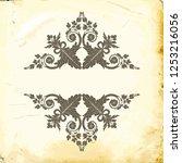 retro baroque decorations... | Shutterstock .eps vector #1253216056