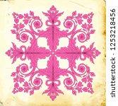 retro baroque decorations... | Shutterstock .eps vector #1253218456