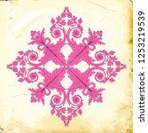 retro baroque decorations... | Shutterstock .eps vector #1253219539
