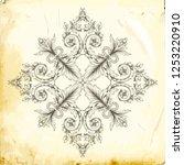 retro baroque decorations... | Shutterstock .eps vector #1253220910