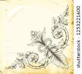 retro baroque decorations... | Shutterstock .eps vector #1253221600