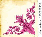 retro baroque decorations... | Shutterstock .eps vector #1253222110