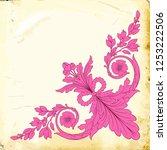 retro baroque decorations... | Shutterstock .eps vector #1253222506