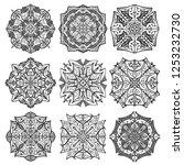 collection mandala on white... | Shutterstock .eps vector #1253232730