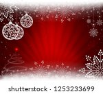 christmas background in red... | Shutterstock .eps vector #1253233699