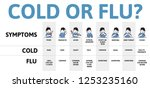 cold and flu symptoms table... | Shutterstock .eps vector #1253235160