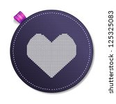 valentine's knitted label with... | Shutterstock .eps vector #125325083