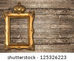 Golden Frame With Crown Over...