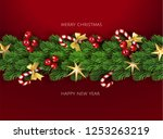 merry christmas typographical... | Shutterstock .eps vector #1253263219