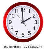 wall clock isolated on white... | Shutterstock . vector #1253263249