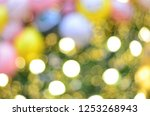 colorful lights defocused... | Shutterstock . vector #1253268943