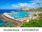 castelsardo town and port in... | Shutterstock . vector #1253284510