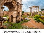 view of the arch of septimius... | Shutterstock . vector #1253284516