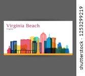 virginia beach city...   Shutterstock .eps vector #1253299219