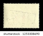 old grunge posted stamp ... | Shutterstock . vector #1253308690