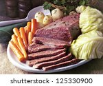 Small photo of Corn Beef And Cabbage on St Patrick's Day