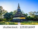 wat umong suan puthatham is a... | Shutterstock . vector #1253316049