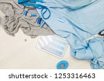 sewing workshop. seamstress at... | Shutterstock . vector #1253316463