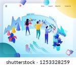 business data analysis... | Shutterstock .eps vector #1253328259
