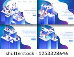 isometric illustration virtual... | Shutterstock .eps vector #1253328646