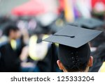 back of graduates during... | Shutterstock . vector #125333204