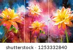 collection of designer oil... | Shutterstock . vector #1253332840
