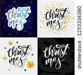 merry christmas calligraphic... | Shutterstock .eps vector #1253336380