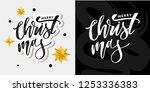 merry christmas calligraphic... | Shutterstock .eps vector #1253336383