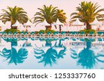 hotel in turkey with pool in... | Shutterstock . vector #1253337760