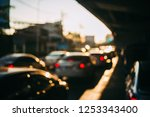 blurred background of traffic... | Shutterstock . vector #1253343400