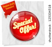 vector glossy red round special ... | Shutterstock .eps vector #125334518