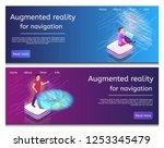 isometric illustration an... | Shutterstock .eps vector #1253345479